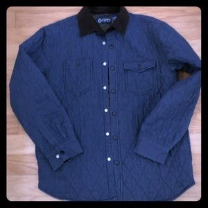 Chaps Ralph Lauren quilted lined shirt jacket M